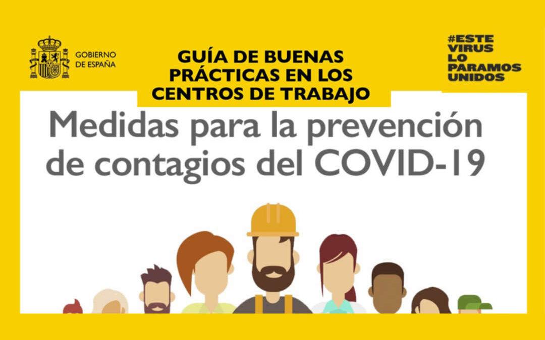 Guía de buenas prácticas en centros de trabajo para prevenir los contagios del COVID-19