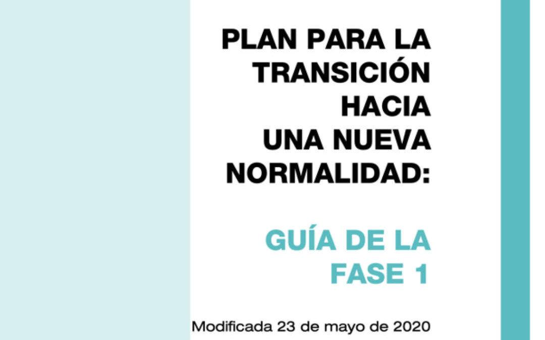 Guía de la Fase I publicada por el Ministerio de Sanidad